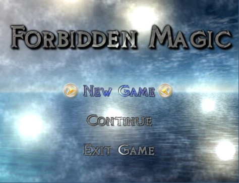 Forbidden Magic Title Screen